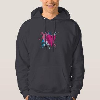 Chic Paintball with Heart Dark Shirt