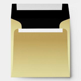 Chic Pale Gold and Black Custom Wedding Envelope