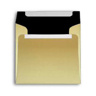Chic Pale Gold and Black Custom Wedding Envelope