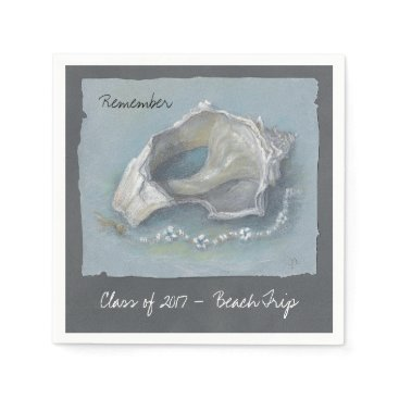 Beach Themed CHIC PAPER NAPKIN_CLASS 0f 2017_MEMORIES Paper Napkin
