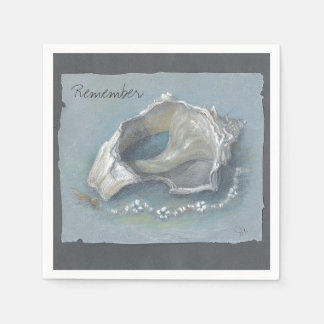 CHIC PAPER NAPKIN_CONCH SHELL DRAWING NAPKIN