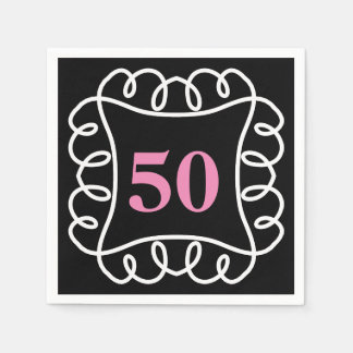 CHIC PAPER NAPKIN_FUN BIRTHDAY BY YEAR. DIY COLORS NAPKIN
