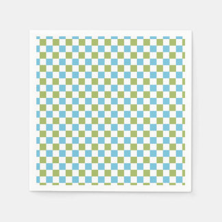 CHIC PAPER NAPKIN_MODERN 143 TURQUOISE/GREEN/WHITE PAPER NAPKIN