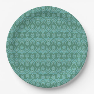 CHIC PAPER PLATE_135 BLUE/TEAL 9 INCH PAPER PLATE