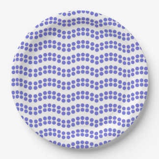 CHIC PAPER PLATE_173 WAVY PERIWINKLE DOTS PAPER PLATE