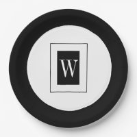 CHIC PAPER PLATE_BLACK/WHITE PAPER PLATE