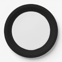 CHIC PAPER PLATE_BLACK/WHITE SOLID PAPER PLATE