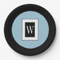 CHIC PAPER PLATE_BLUE/BLACK/WHITE PAPER PLATE