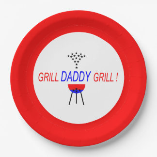 CHIC PAPER PLATE_GRILL DADDY GRILL! COOKOUTS PAPER PLATE