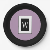 CHIC PAPER PLATE_LILAC/BLACK/WHITE PAPER PLATE