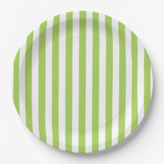 CHIC PAPER PLATE_LOVELY GREEN STRIPES PAPER PLATE