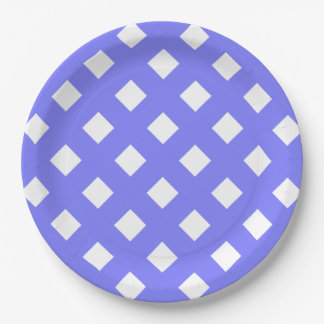 CHIC PAPER PLATE_LOVELY PERIWINKLE LATTICE PAPER PLATE
