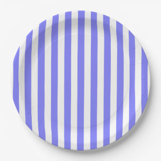CHIC PAPER PLATE_LOVELY PERIWINKLE STRIPES PAPER PLATE