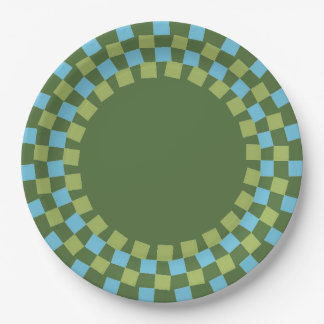 CHIC PAPER PLATE_MODERN 143 TURQUOISE/GREEN PAPER PLATE