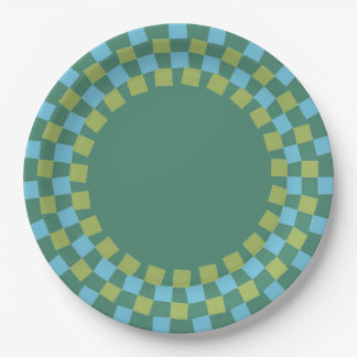 CHIC PAPER PLATE_MODERN 143 TURQUOISE/GREEN/TEAL PAPER PLATE