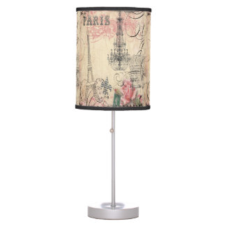 Chic Paris Eiffel Tower & Chandelier Panels Table Lamp