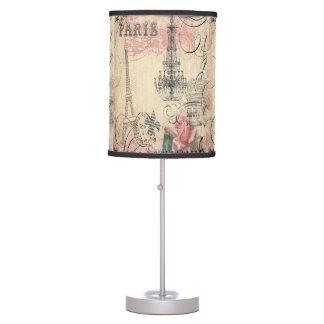 Chic Paris Eiffel Tower & Chandelier Panels Table Lamp