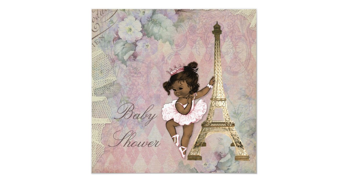 Paris Baby Shower Invitations & Announcements | Zazzle