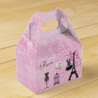 Chic Paris Fashion Eiffel Tower Favor Box
