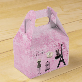 Chic Paris Fashion Eiffel Tower Favor Box