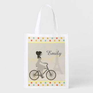 Chic Paris Grocery Bag