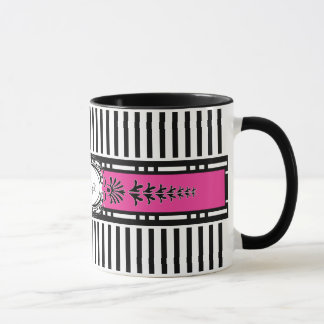 Chic Paris Stripes Coffee Mug with Your Name
