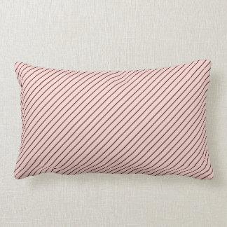 Chic Parisian Pale Pink and Black Pinstripes Lumbar Pillow