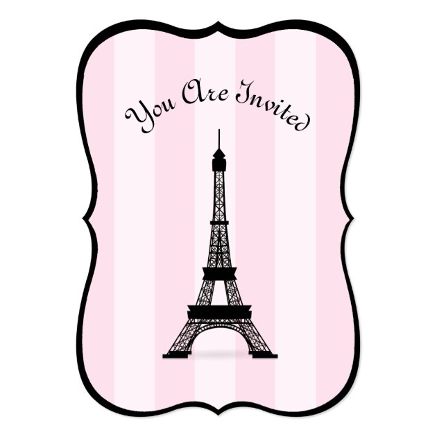 Personalized Eiffel tower Invitations | CustomInvitations4U.com