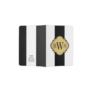 CHIC PASSPORT HOLDER_43 KHAKI/BLACK/WHITE PASSPORT HOLDER