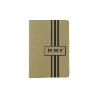 CHIC PASSPORT HOLDER_47 CAMEL/BLACK PASSPORT HOLDER