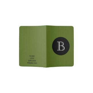 CHIC PASSPORT HOLDER_77 GREEN/BLACK/WHITE PASSPORT HOLDER