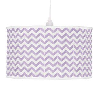 Chic Pastel purple grey Chevron Custom Monogram Ceiling Lamp
