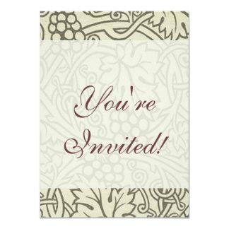 Chic Pattern Grapevine Art Nouveau Design 4.5x6.25 Paper Invitation Card