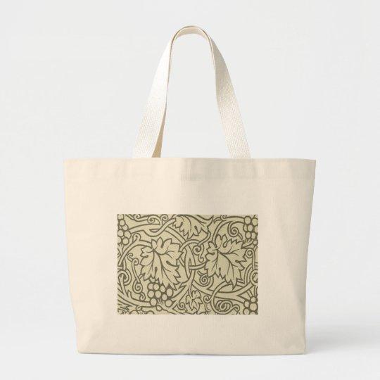 Chic Pattern Grapevine Art Nouveau Design Large Tote Bag