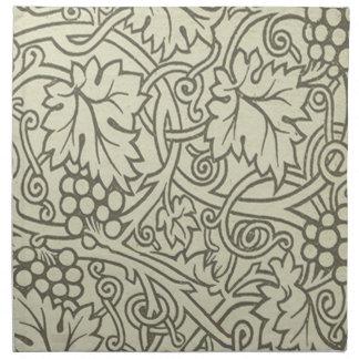 Chic Pattern Grapevine Art Nouveau Design Napkin