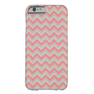 Chic Peach and Sand Chevron iPhone 6 Case