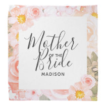 Chic Peach Mint Floral Frame Mother of the Bride Bandana