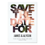 Chic Peek Save The Date Card Announcement