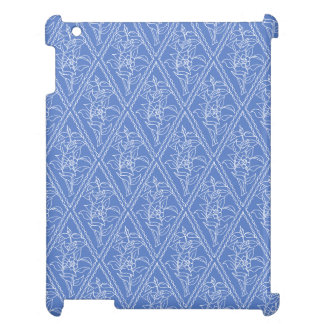 Chic Periwinkle Blue Floral Diamond Pattern Cover For The iPad