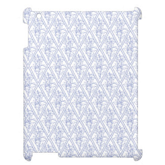 Chic Periwinkle Blue White Floral Diamond Pattern Cover For The iPad 2 3 4