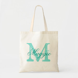 Chic Personalized name monogram Tote Bag