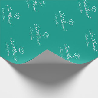Chic personalized turquoise wedding wrappingpaper wrapping paper