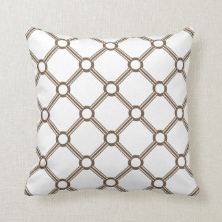 CHIC PILLOW_39 BROWN/WHITE DESIGN PILLOW