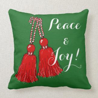 Joy Christmas Throw Pillows : Peace And Joy Pillows - Decorative & Throw Pillows Zazzle