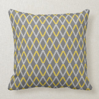 CHIC PILLOW_ DIAMOND 253 GRAY/D56 MERIGOLD DOTS THROW PILLOW