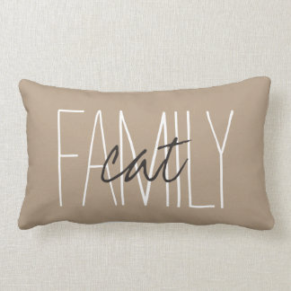 "CHIC PILLOW_""FAMILY...cat"" Lumbar Pillow"