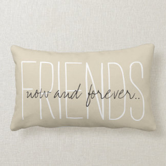 """CHIC PILLOW_""""FRIENDS...now and forever..."""" Lumbar Pillow"""