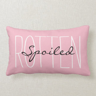 "CHIC PILLOW_GIRLY PINK ""SPOILED ROTTEN"" LUMBAR PILLOW"