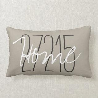 Chic Pillow_home/zipcode Lumbar Pillow at Zazzle