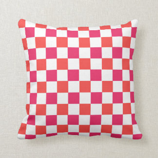 CHIC PILLOW_MODERN PINK/CORAL/WHITE THROW PILLOW